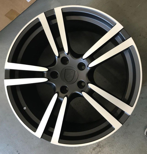 "21""black turbo 2 alloy wheels for audi q7/vw tourag 5x130/porsche cayanne"