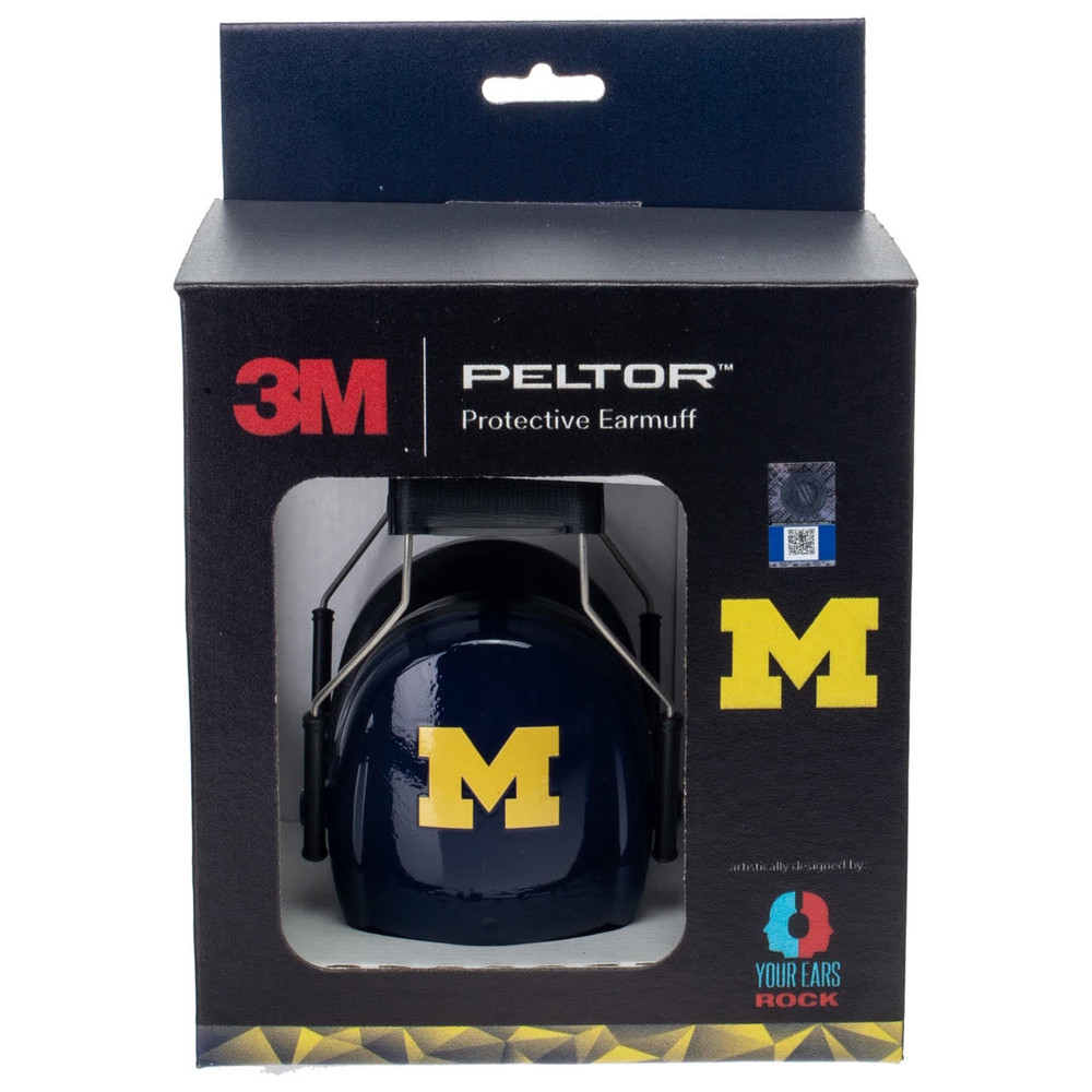 Officially Licensed University of Michigan Wolverines Blue 3M™ Hearing Protection Earmuffs