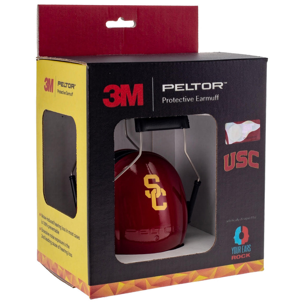 Officially Licensed University of Southern California Trojans Cardinal Hearing Protection Earmuffs