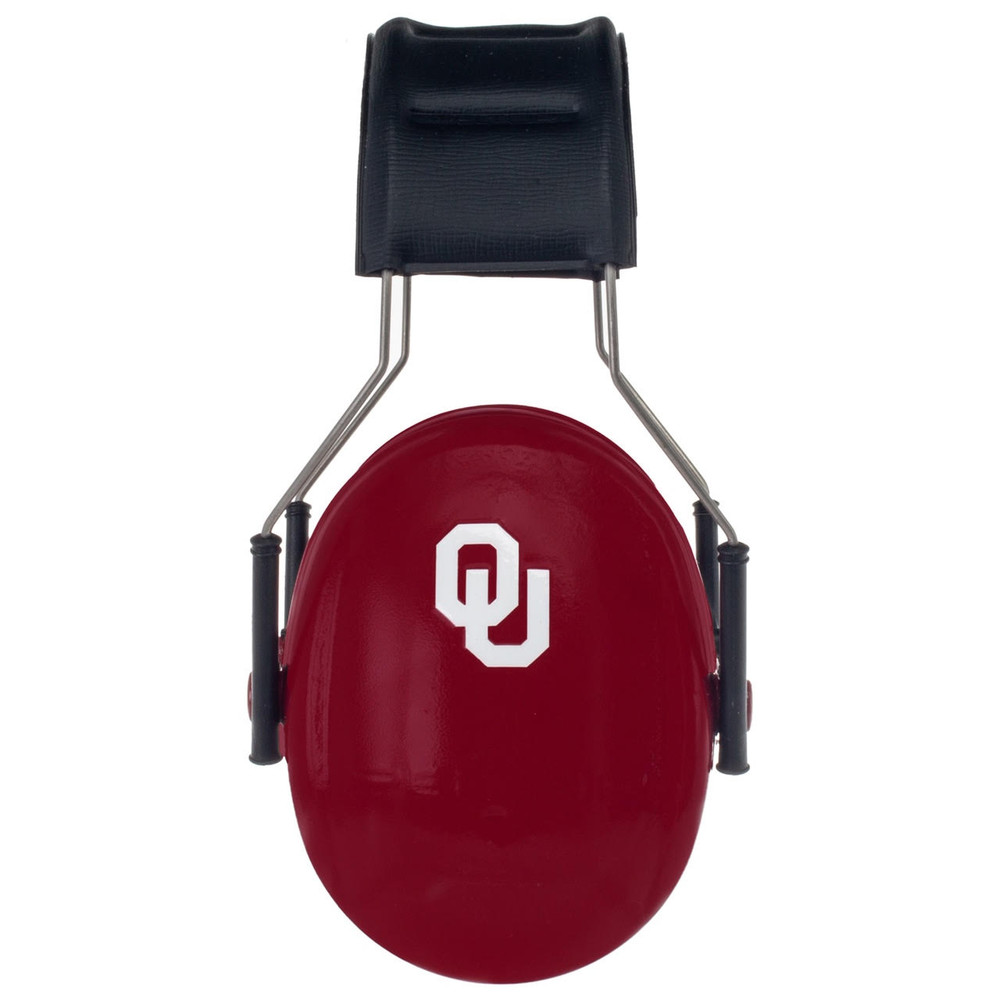 Officially Licensed University of Oklahoma Sooners Crimson 3M™ Hearing Protection Earmuffs