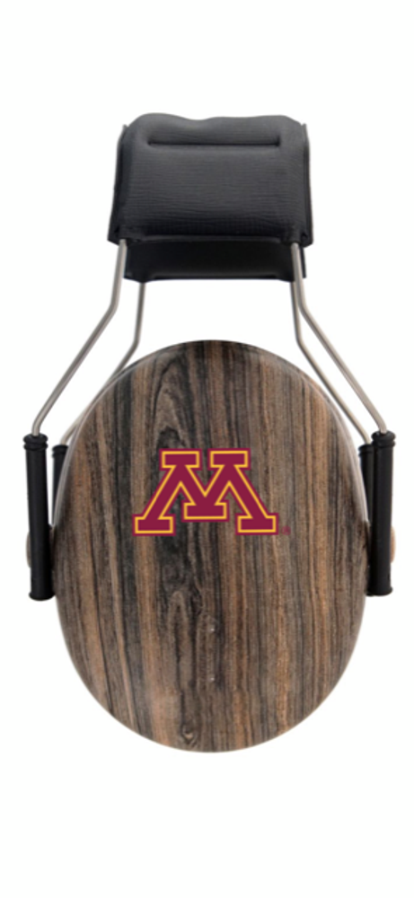 Officially Licensed University of Minnesota Gophers Woodgrain 3M™ Hearing Protection Earmuffs