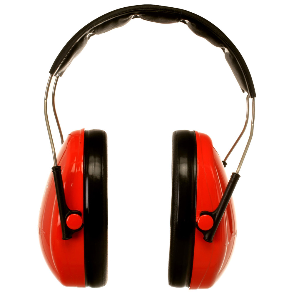 Officially Licensed University of Nebraska Huskers Red 3M™ Hearing Protection Earmuffs