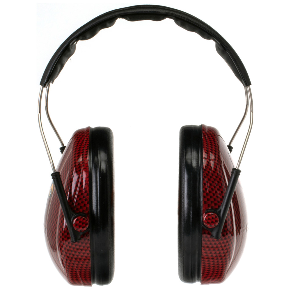 Officially Licensed University of Louisville Cardinals Red Carbon Fiber Hearing Protection Earmuffs