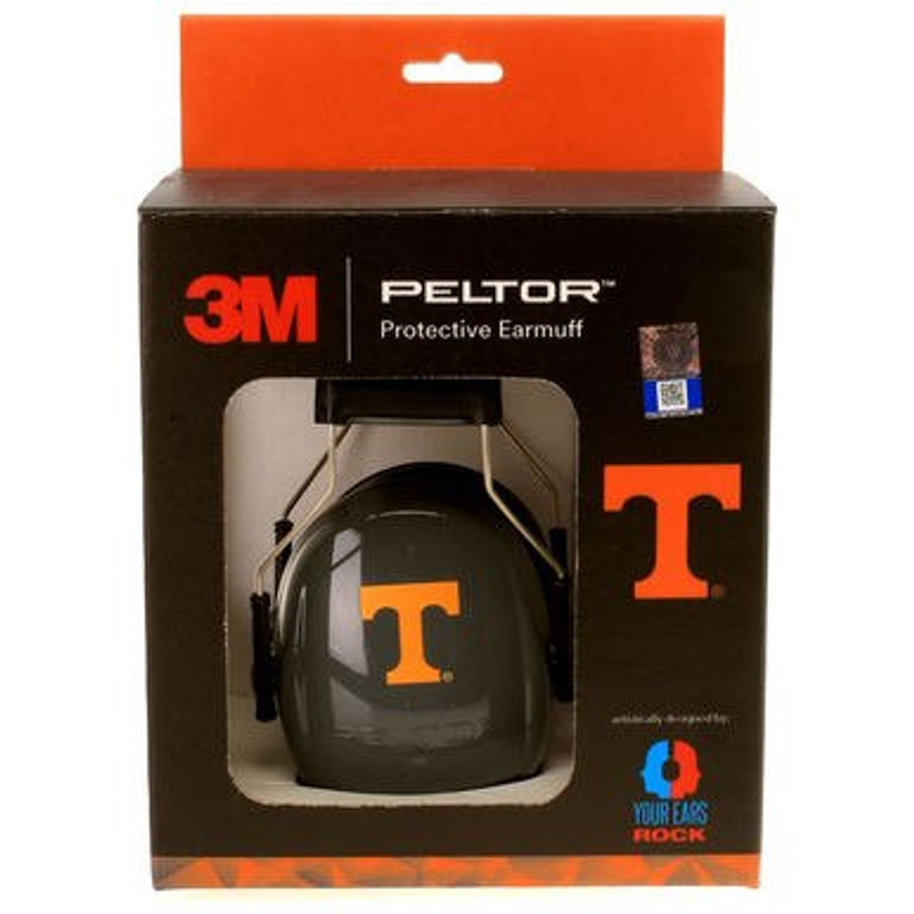 Officially Licensed University of Tennessee Vols Smokey Gray 3M™ Hearing Protection Earmuffs