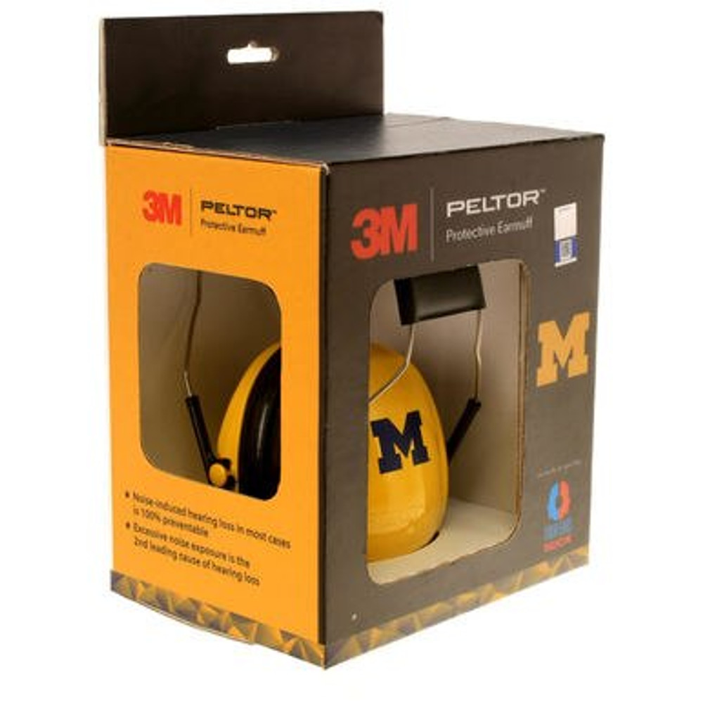 Officially Licensed University of Michigan Maize Hearing Protection Earmuffs