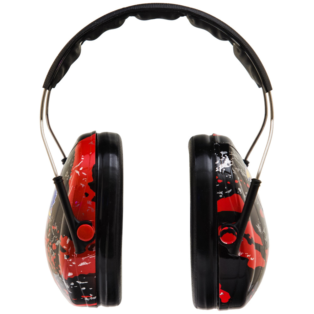 Officially Licensed University of Kansas Jayhawks Red Splash 3M™ Hearing Protection Earmuffs