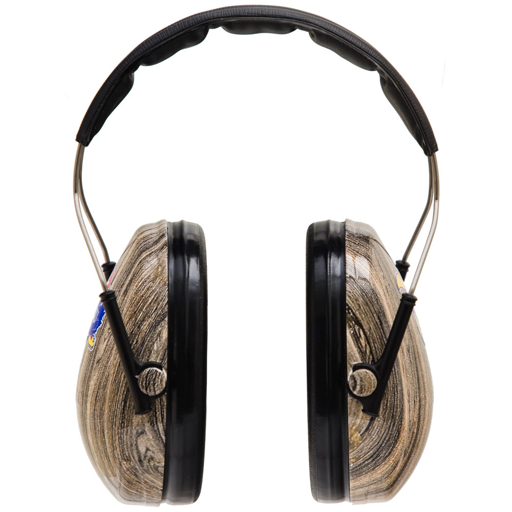 Officially Licensed University of Kansas Jayhawks Woodgrain 3M™ Hearing Protection Earmuffs