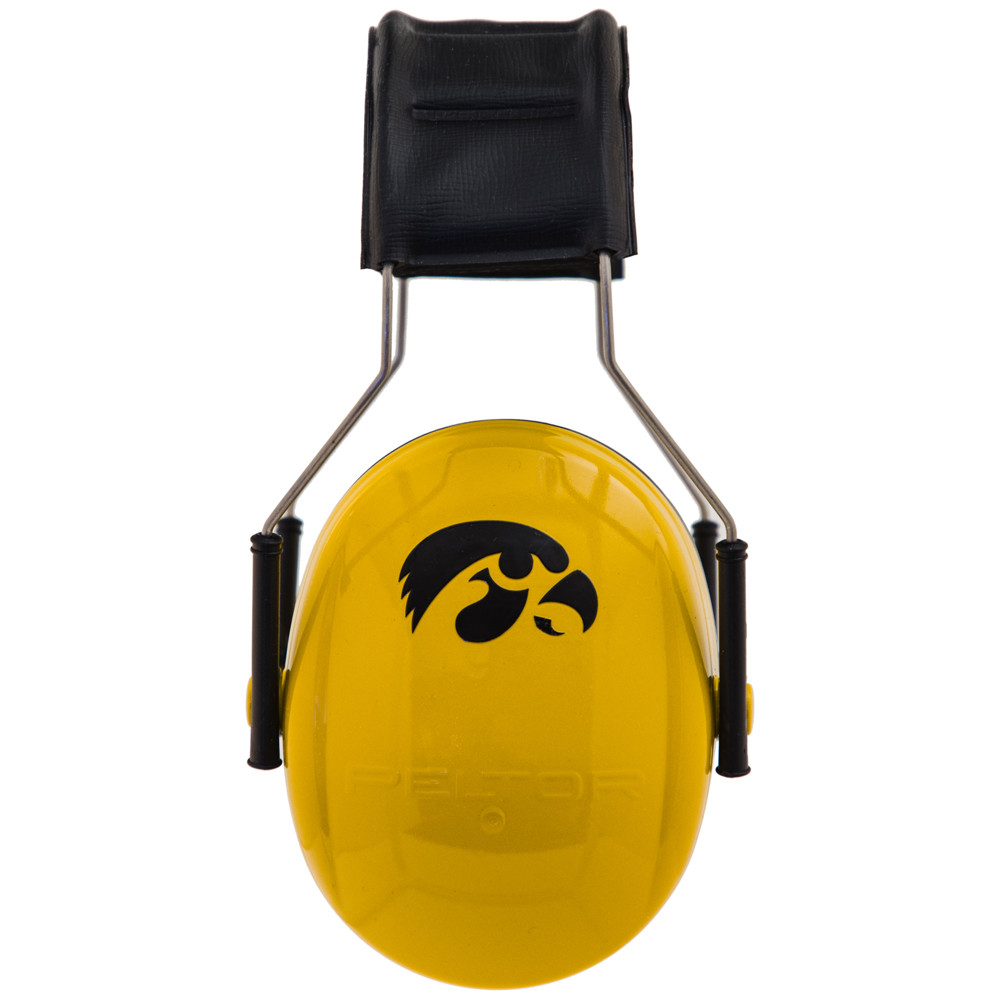Officially Licensed University of Iowa Hawkeyes Gold 3M™ Hearing Protection Earmuffs
