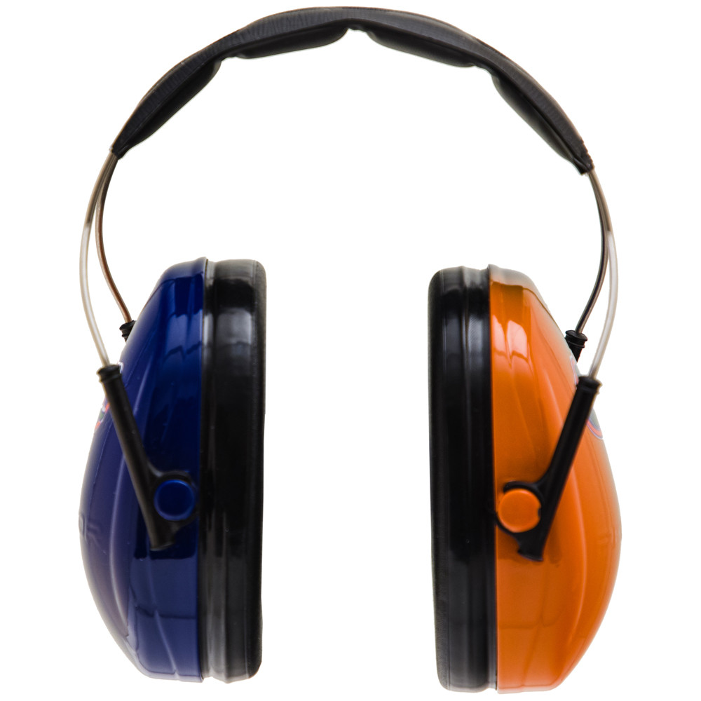 Officially Licensed University of Florida Gators Blue and Orange Gradient 3M™ Hearing Protection Earmuffs