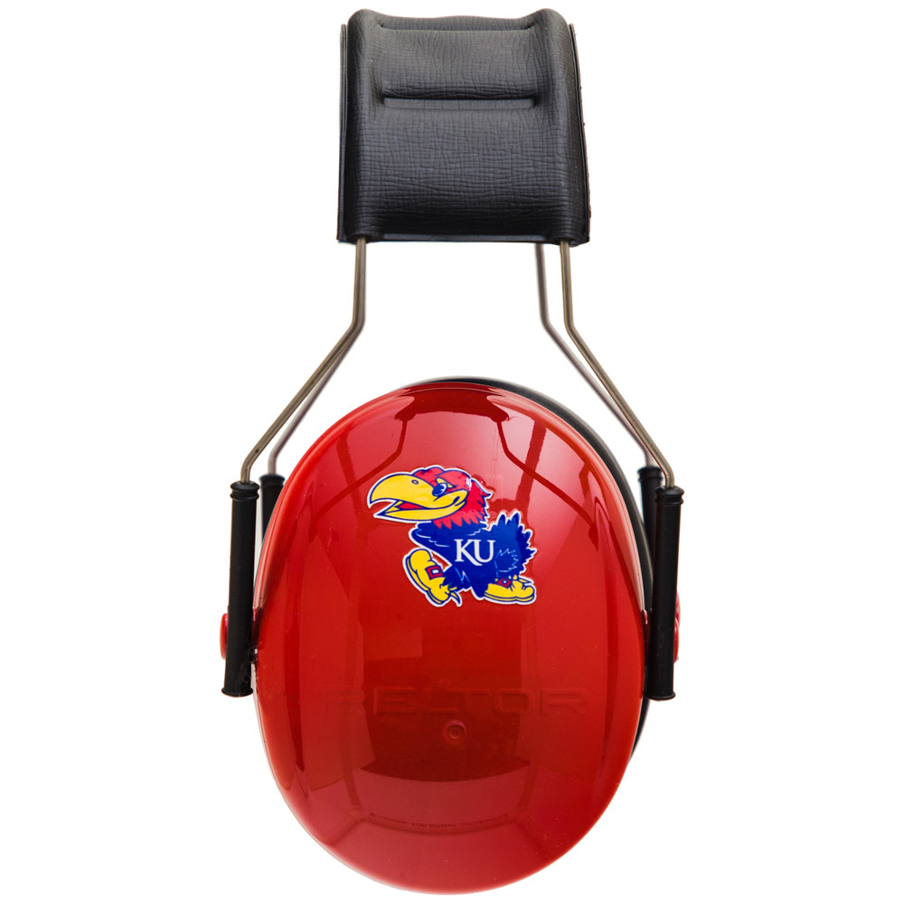 Officially Licensed University of Kansas Jayhawks Red 3M™ Hearing Protection Earmuffs
