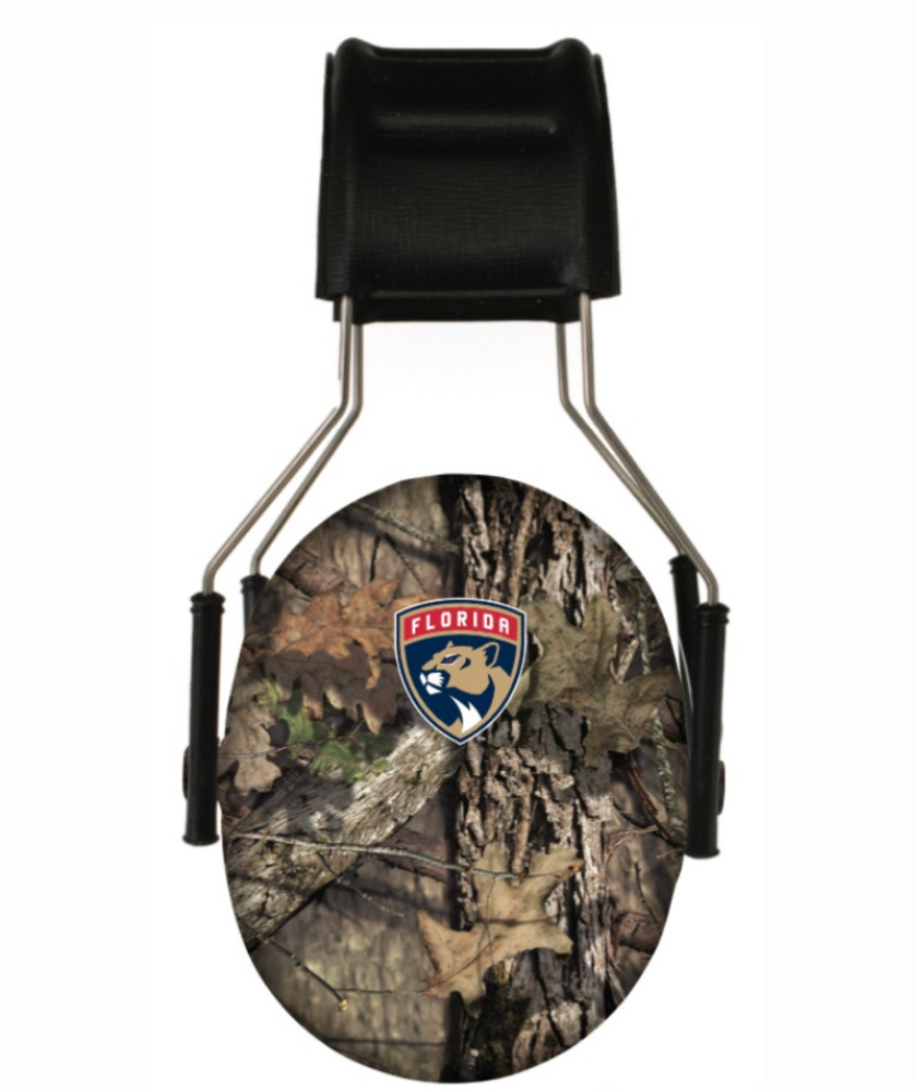 Officially Licensed Florida Panthers Mossy Oak Camouflage 3M Hearing Protection Earmuffs