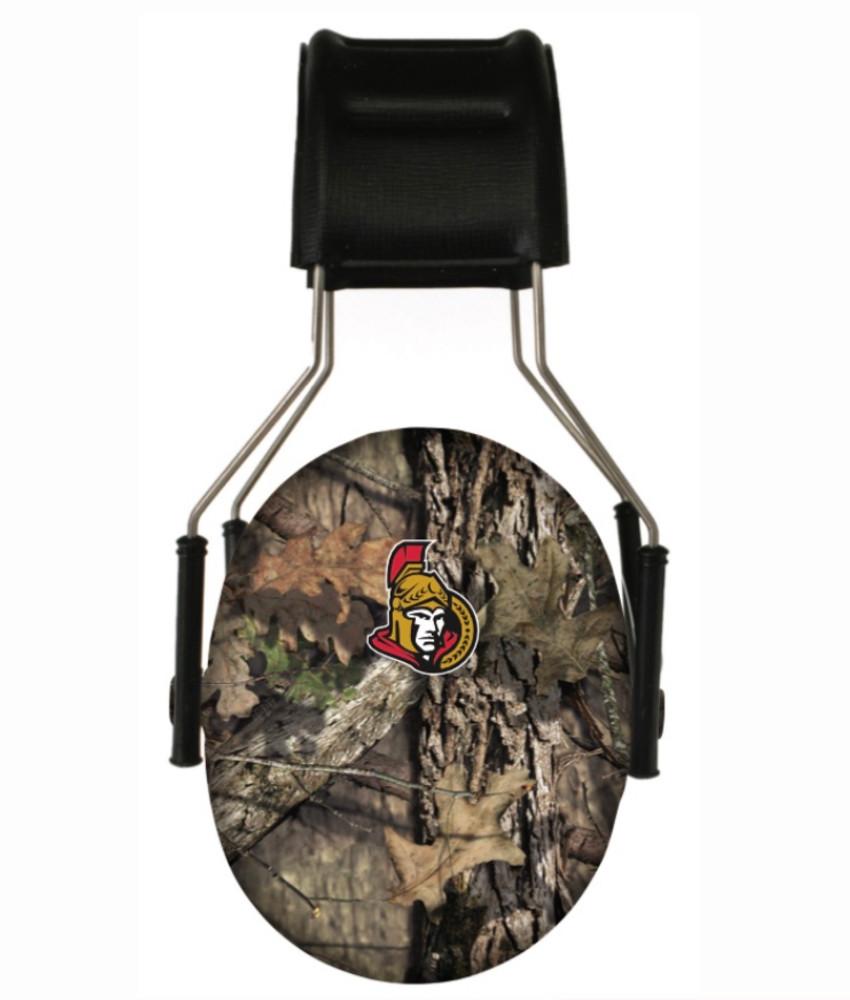 Officially Licensed Ottawa Senators Mossy Oak Camouflage Hearing Protection Earmuffs