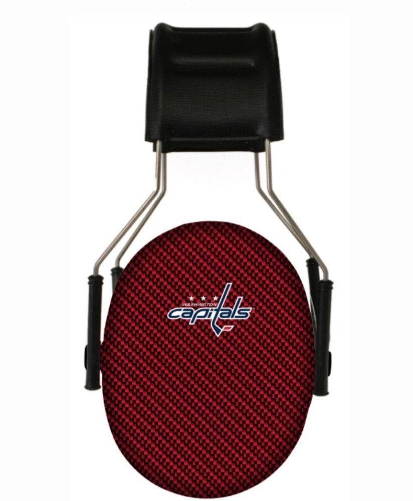 Officially Licensed Washington Capitals Carbon Fiber 3M Hearing Protection Earmuffs