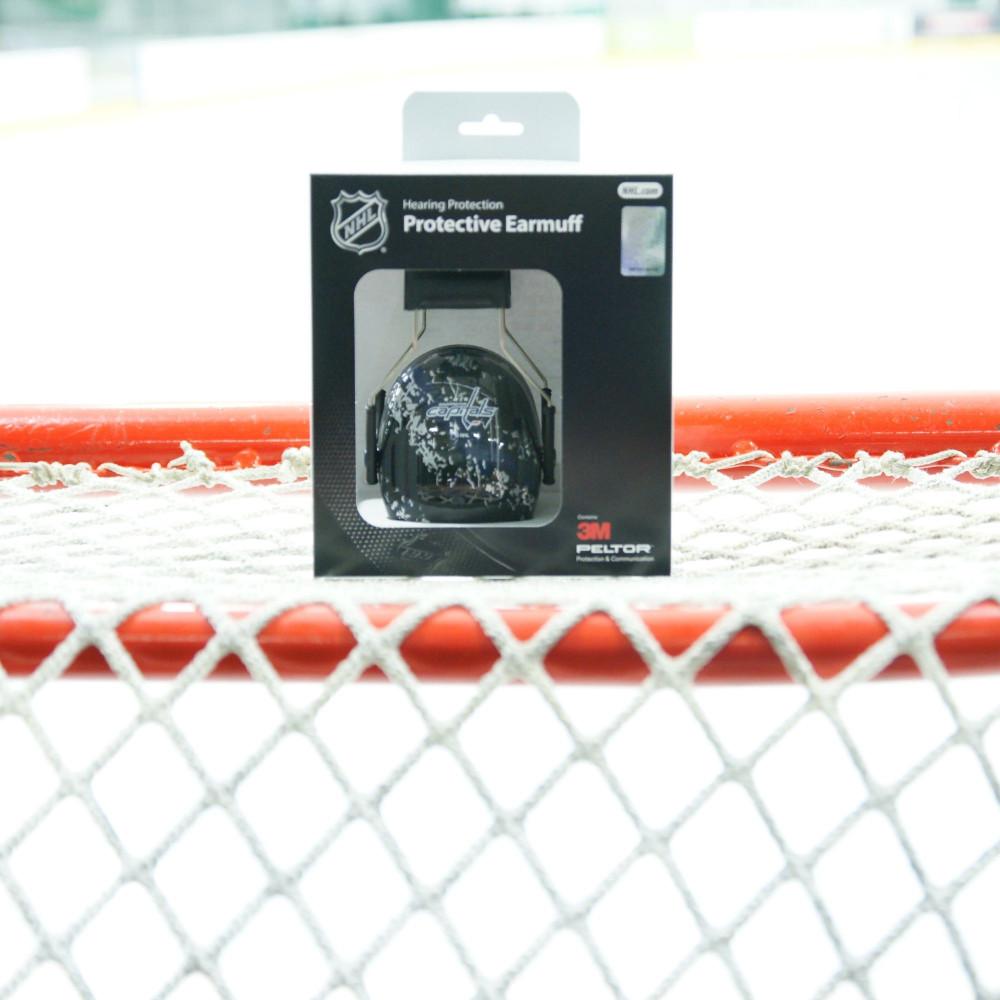 Officially Licensed Washington Capitals Splash 3M Hearing Protection Earmuffs