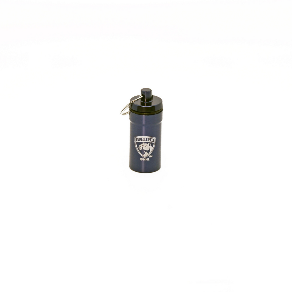 Officially Licensed Florida Panthers 12-pack Foam Earplugs with Aluminum Laser-Engraved Keychain Container by 3M™