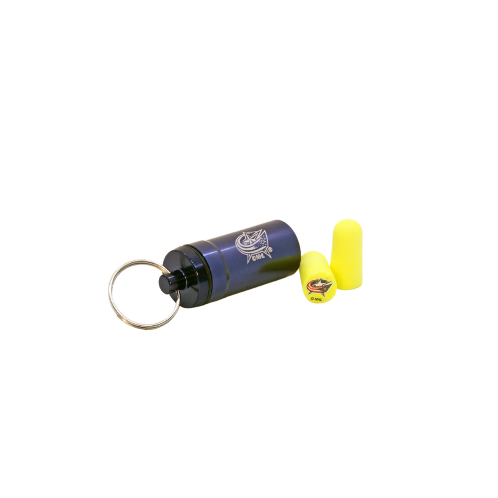 Officially Licensed Nashville Predators 12-pack Foam Earplugs with Aluminum Laser-Engraved Keychain Container by 3M™