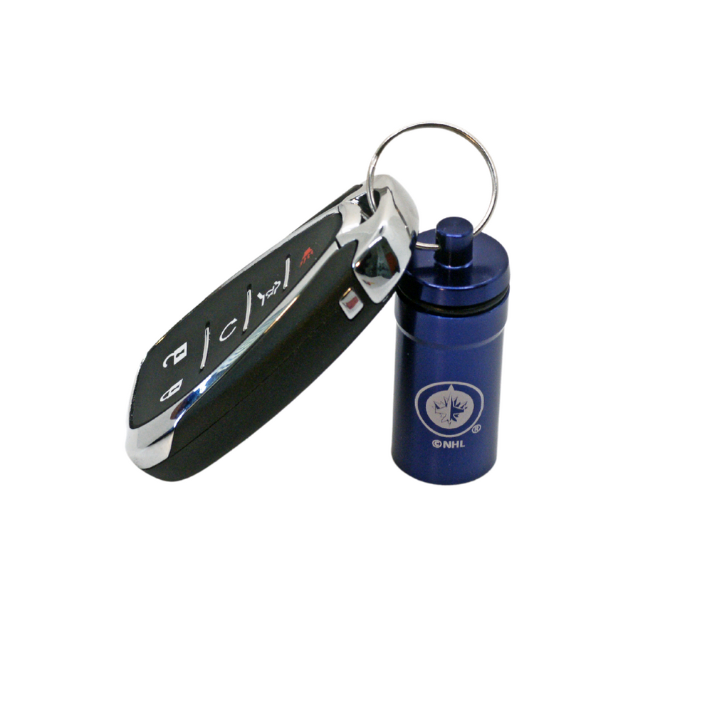 Officially Licensed Winnipeg Jets 12-pack Foam Earplugs with Aluminum Laser-Engraved Keychain Container by 3M™