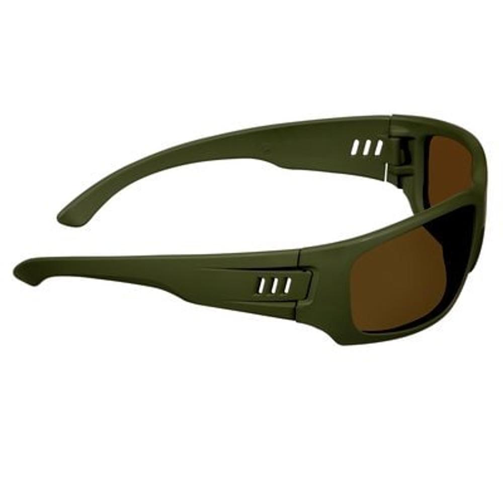 3M™ Maxim™ Elite 1000 Series, Green Frame Scotchgard™ Anti-Fog Coating, Brown Polarized AF-AS Lens
