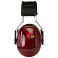 Officially Licensed University of Louisville Cardinals Red Carbon Fiber 3M™ Hearing Protection Earmuffs