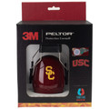 Officially Licensed University of Southern California Trojans Cardinal Carbon Fiber Hearing Protection Earmuffs