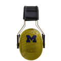 Officially Licensed University of Michigan Wolverines Maize Carbon Fiber 3M™ Hearing Protection Earmuffs