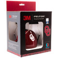 Officially Licensed University of Oklahoma Sooners Crimson Carbon Fiber 3M™ Hearing Protection Earmuffs