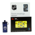 Officially Licensed Edmonton Oilers 12-pack Foam Earplugs with Aluminum Laser-Engraved Keychain Container by 3M™