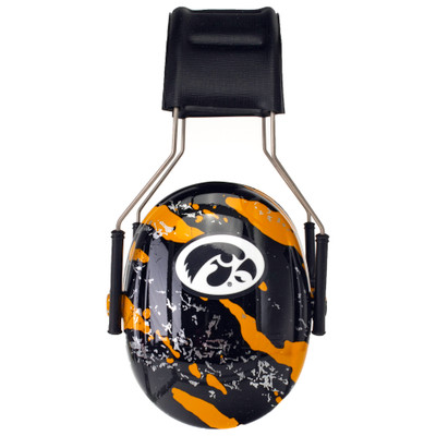 Officially Licensed University of Iowa Hawkeyes Gold Splash 3M™ Hearing Protection Earmuffs