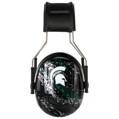 Officially Licensed Michigan State University Spartans Green Splash 3M™ Hearing Protection Earmuffs