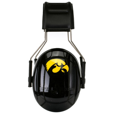 Officially Licensed University of Iowa Hawkeyes Black 3M™ Hearing Protection Earmuffs