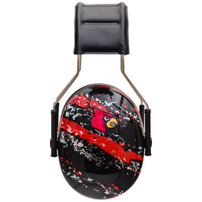 Officially Licensed University of Louisville Cardinals Red Splash 3M™ Hearing Protection Earmuffs