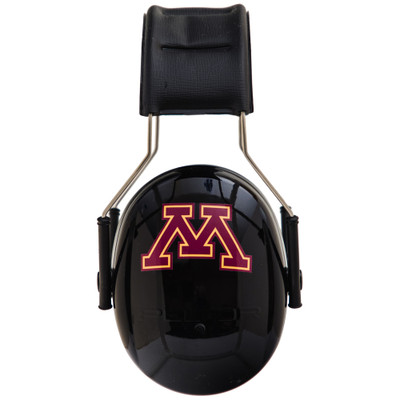 Officially Licensed University of Minnesota Gophers Black 3M™ Hearing Protection Earmuffs