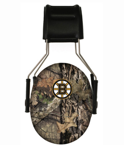 Officially Licensed Boston Bruins Mossy Oak Break-up Country Camouflage Hearing Protection Earmuffs