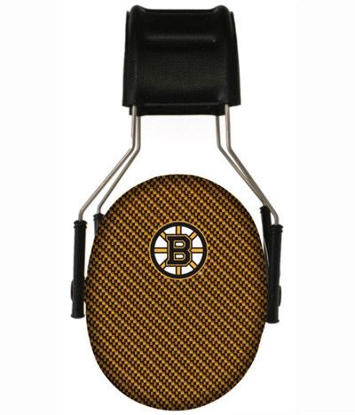 Officially Licensed Boston Bruins Carbon Fiber Hearing Protection Earmuffs