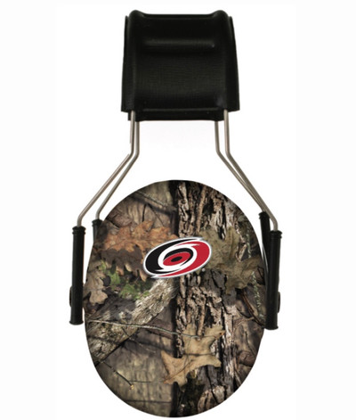 Officially Licensed Carolina Hurricanes Mossy Oak Break-up Country Camouflage Hearing Protection Earmuffs