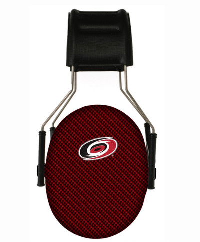 Officially Licensed Carolina Hurricanes Carbon Fiber Hearing Protection Earmuffs