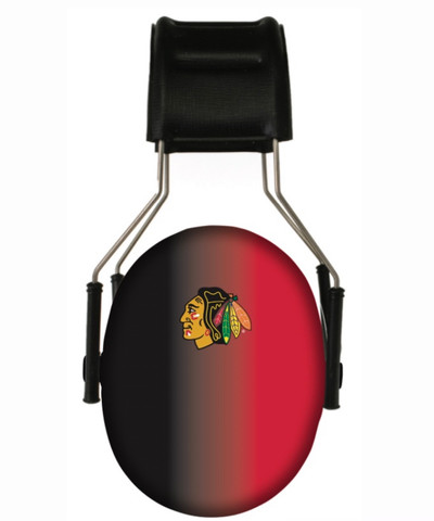 Officially Licensed Chicago Blackhawks Gradient 3M Hearing Protection Earmuff