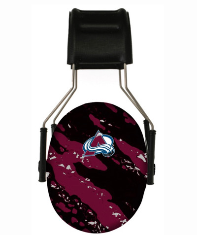 Officially Licensed Colorado Avalanche Splash 3M Hearing Protection Earmuffs