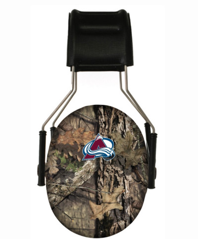 Officially Licensed Colorado Avalanche Mossy Oak Breakup Country Camouflage 3M Hearing Protection Earmuffs