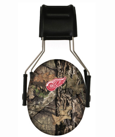 Officially Licensed Detroit Red Wings Mossy Oak Camouflage 3M Hearing Protection Earmuffs