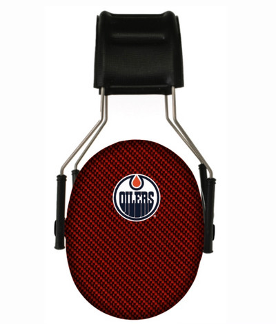 Officially Licensed Edmonton Oilers Carbon Fiber 3M Hearing Protection Earmuffs