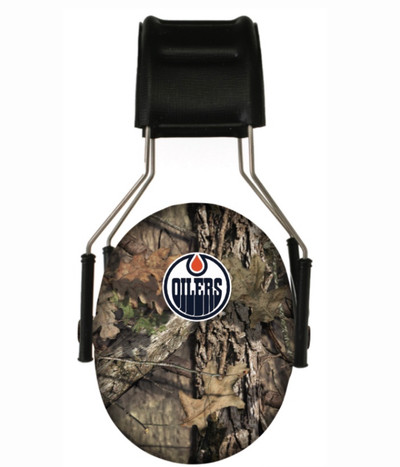 Officially Licensed Edmonton Oilers Mossy Oak Camouflage 3M Hearing Protection Earmuffs
