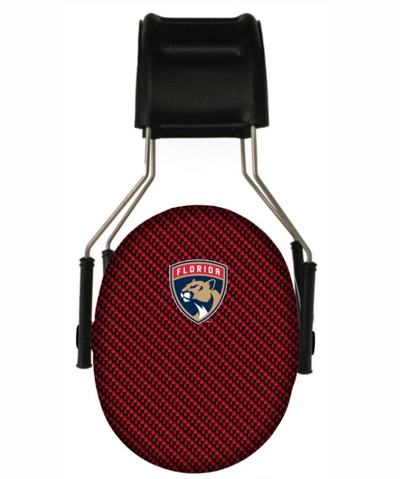 Officially Licensed Florida Panthers Carbon Fiber 3M Hearing Protection Earmuffs