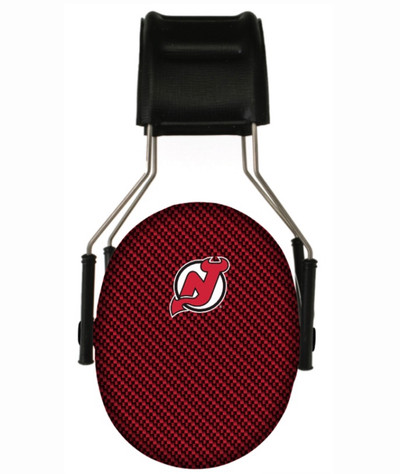 Officially Licensed New Jersey Devils Carbon Fiber 3M Hearing Protection Earmuffs