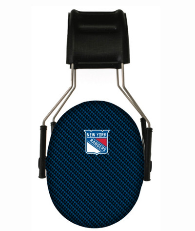 Officially Licensed New York Rangers Carbon Fiber 3M Hearing Protection Earmuffs