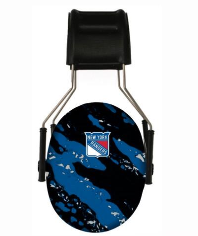 Officially Licensed New York Rangers Splash 3M Hearing Protection Earmuffs