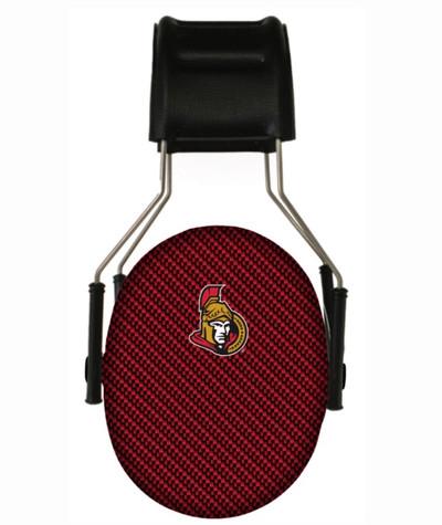 Officially Licensed Ottawa Senators Carbon Fiber 3M Hearing Protection Earmuffs