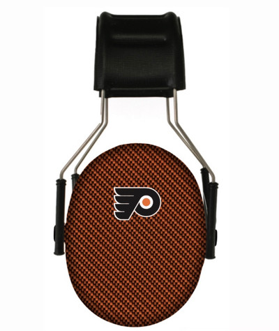 Officially Licensed Philadelphia Flyers 3M Carbon Fiber Hearing Protection Earmuffs