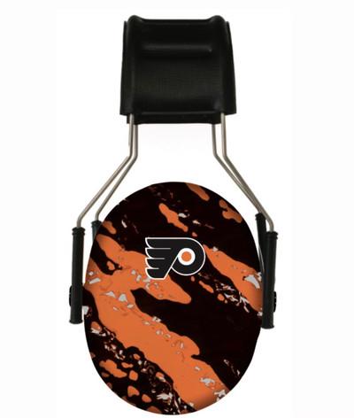 Officially Licensed Philadelphia Flyers Splash Hearing Protection Earmuffs