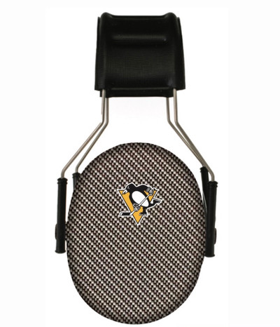 Officially Licensed Pittsburgh Penguins Carbon Fiber 3M Hearing Protection Earmuffs